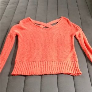 Sparkle and Fade Coral Sweater size small